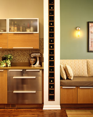 Wine storage built between the studs!  This is amazing!