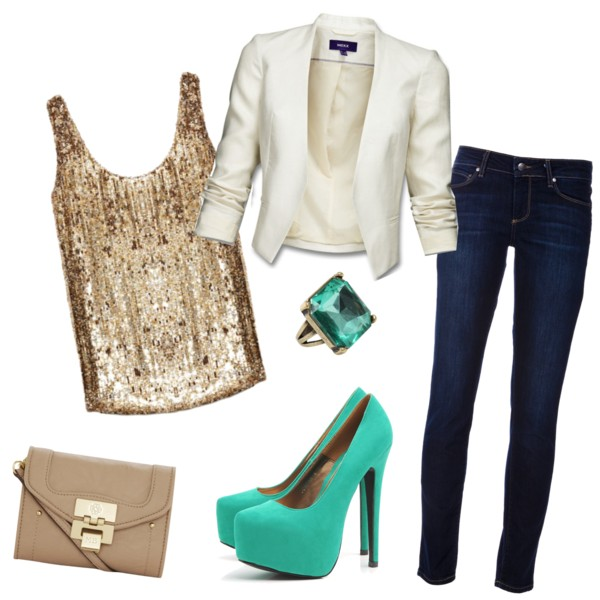 Glitter and teal
