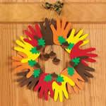 Fun Kids Fall Crafts – Autumn Handprint Wreath Craft Kit