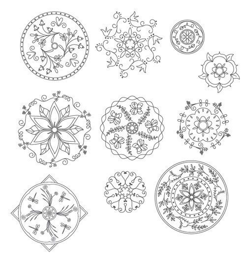 mandala embroidery patterns