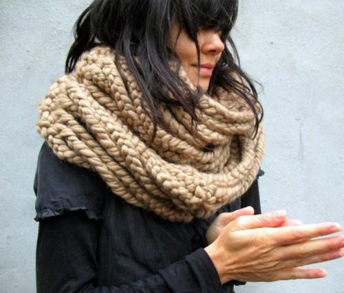 { oversized scarves }- heck yea!