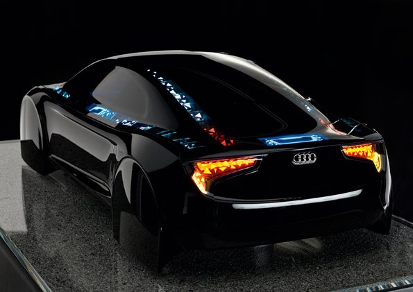 An Audi .. with OLED Lights