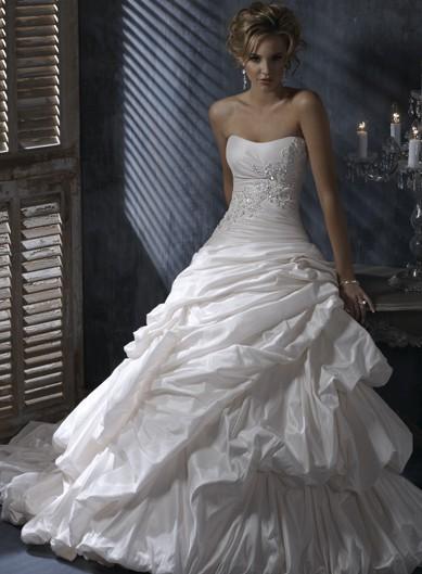 Gorgeous Sleeveless Ball Gown Floor-length wedding dress $402.00