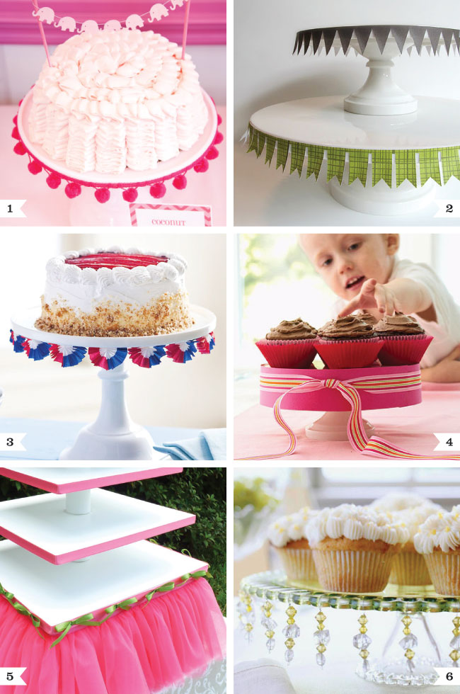 Cute ways to dress up cake stands