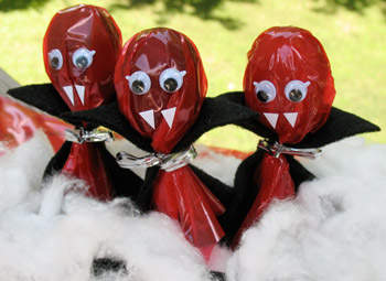 Cute Food For Kids: 18 DIY lollipop vampire cover ideas for Halloween