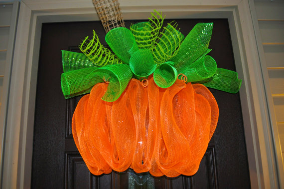 Halloween Wreath Halloween Wreath Deco Mesh by RedWithEnvyDesigns, $50.00
