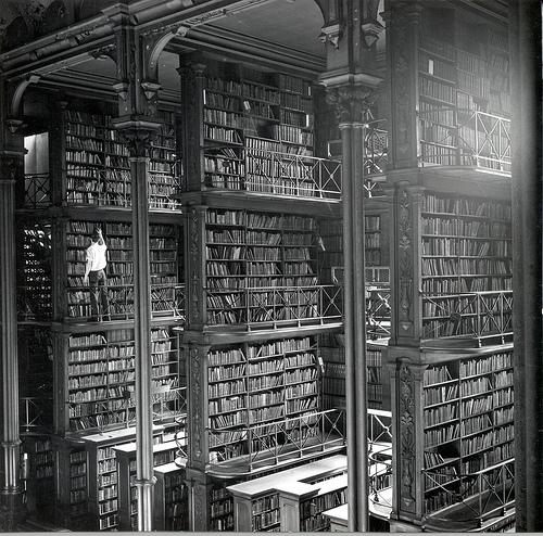 Main Hall of the Public Library of Cincinnati, 1874.