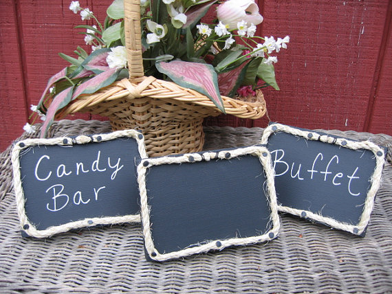 Country Wedding Chalkboard Signs, Shabby Chic Wedding Decorations, Bridal Shower