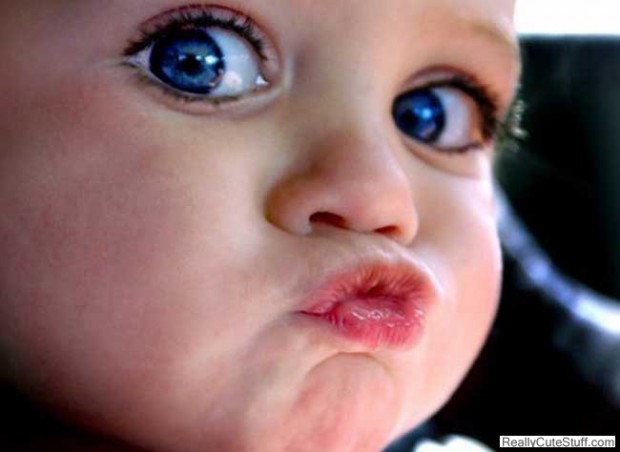 The only time duck lips are cute!
