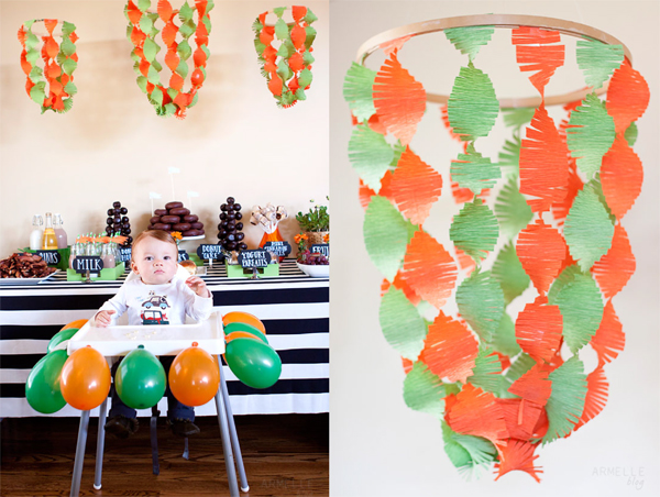 Using hoops for decorations.     CAKE. | events + design: real parties
