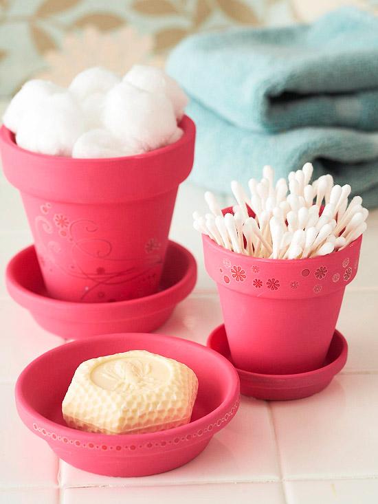 cute bathroom container idea