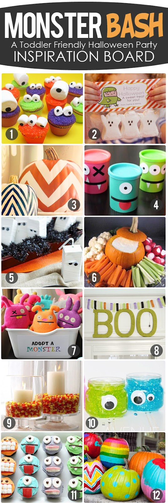 The Busy Budgeting Mama: Monster Bash!- Toddler Friendly Halloween Party Inspira
