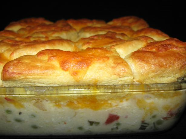 Creamed Chicken and Biscuits Casserole This is a wonderful and simple to