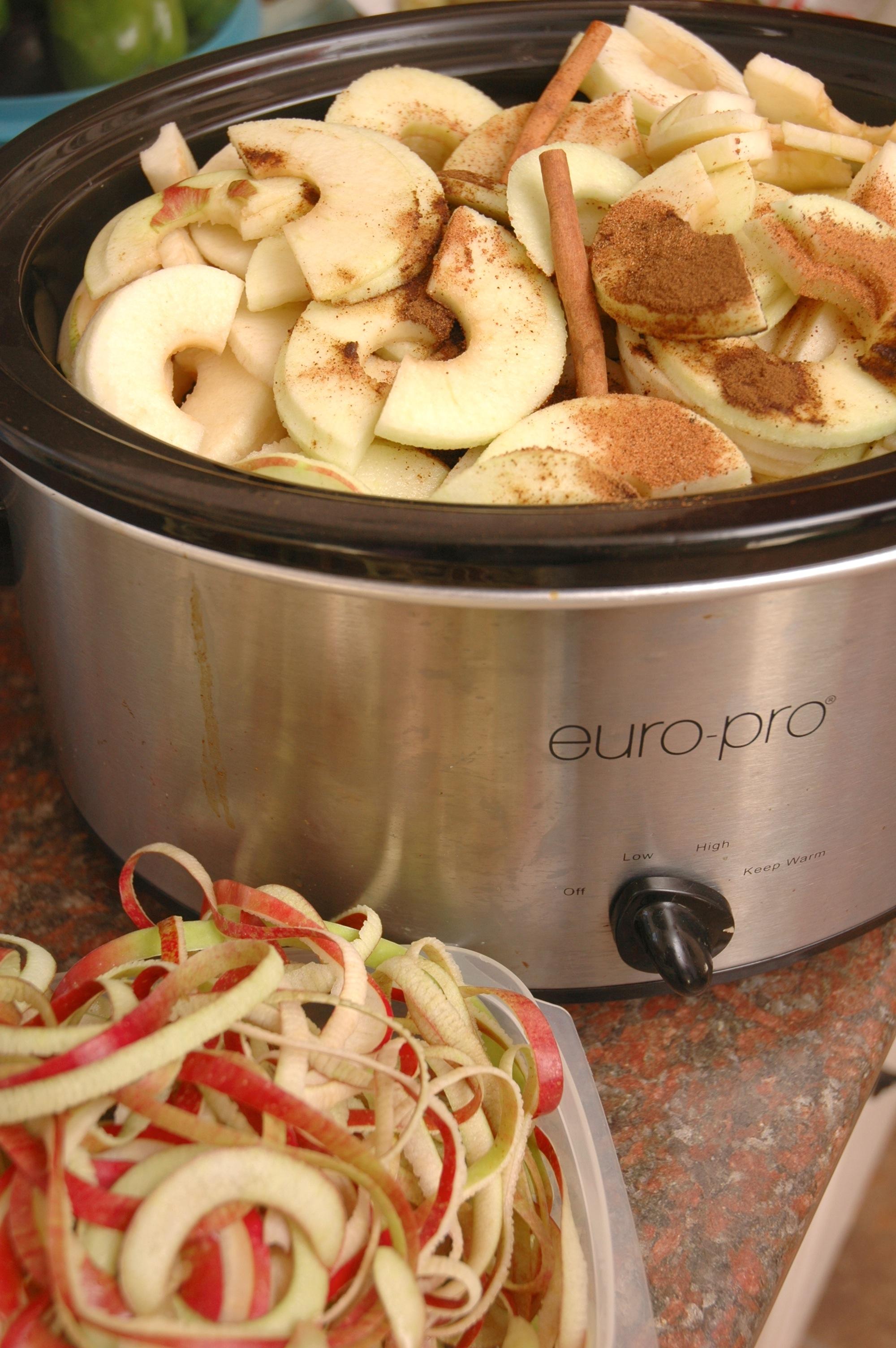 Apple butter in the crockpot