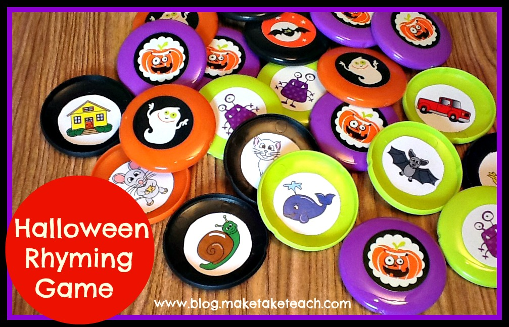 FREE rhyming pictures to make your own game.  Makes for a great literacy center