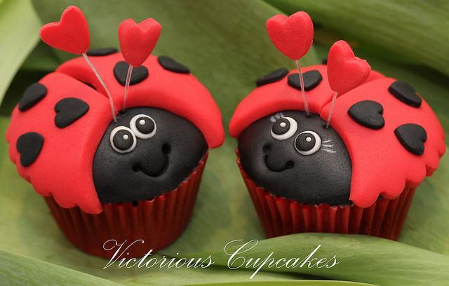 Love Bugs Cupcakes
