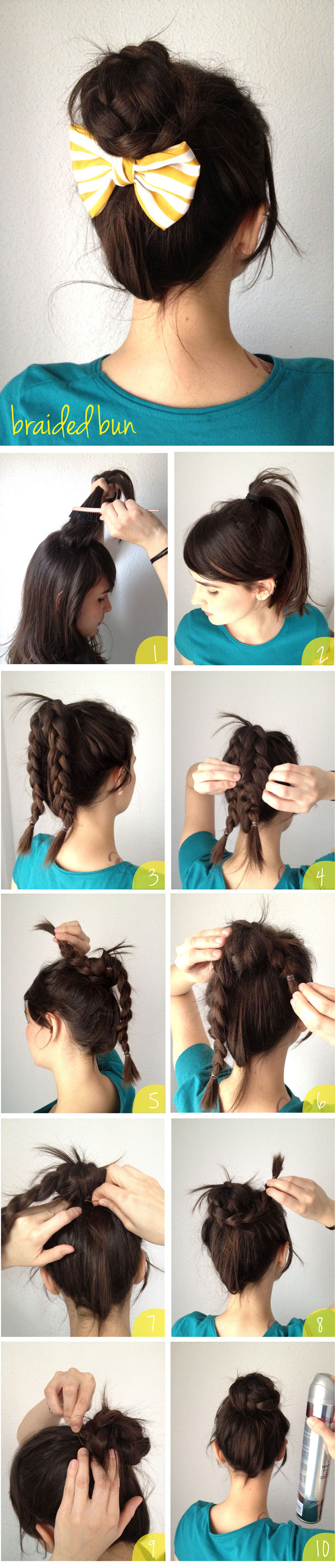 braided bun how-to
