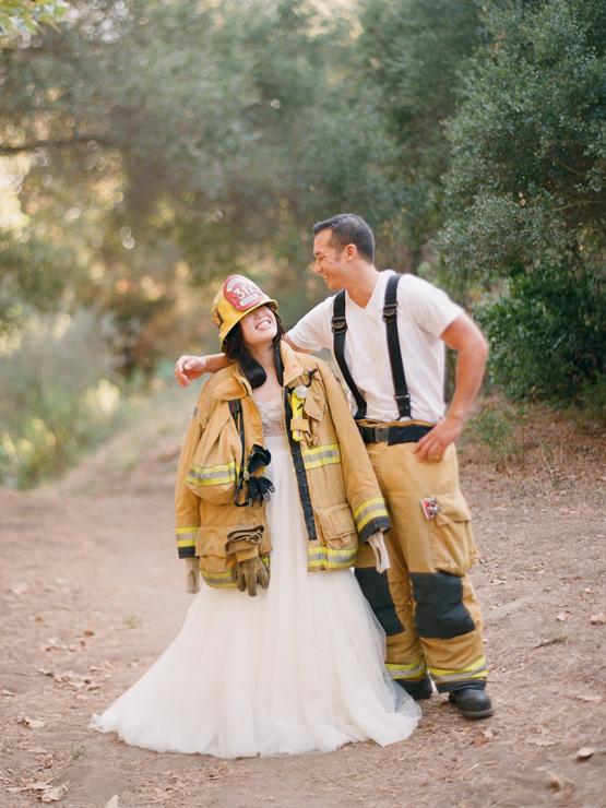 firefighter wedding