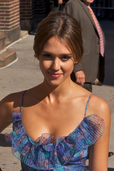 Jessica Alba visits The Late Show with David Letterman