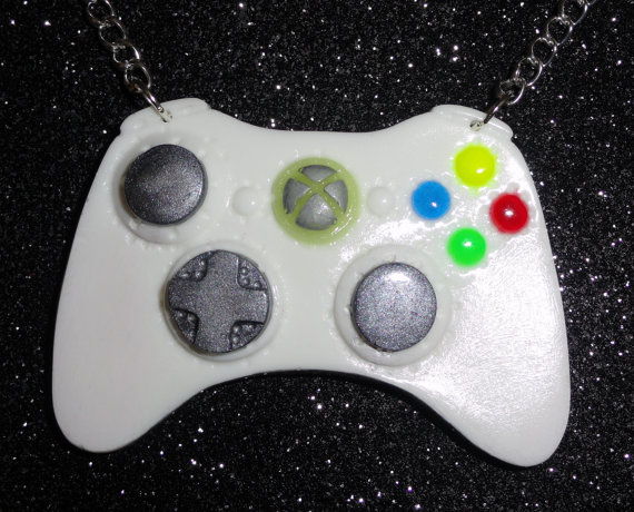 Xbox Controller Necklace  Original White Grey and by thefunkyjunky, $18.50