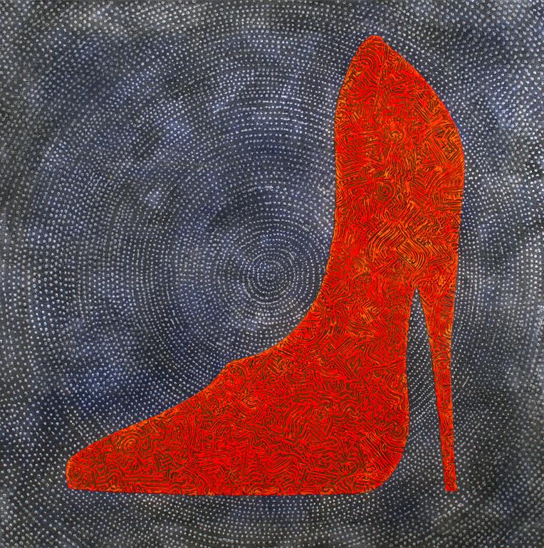 "Saatchi Online Artist: Gian Luigi Delpin; Mixed Media, 2012, Painting ""shoe"