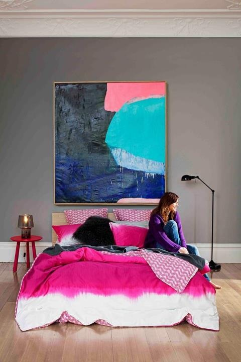 Love the colour from this bedroom – it's from the cover of the latest Real L