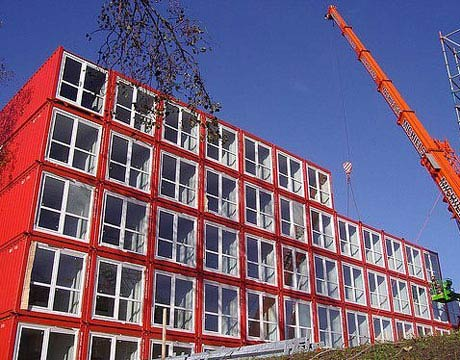 Amsterdam Student Housing from #shipping containers