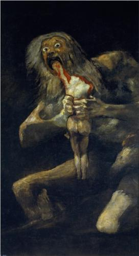 Saturn Devouring His Son – Francisco Goya. Saw this painting in person when I wa