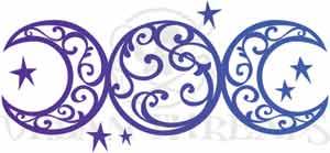 triple moon tattoo