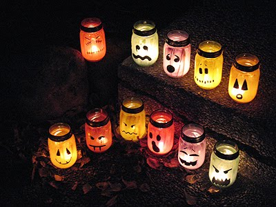 Lead Trick or Treater's to your door with these Halloween Luminaries.. Paint
