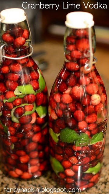 Cranberry Lime Vodka.  Cool gift for the holidays!