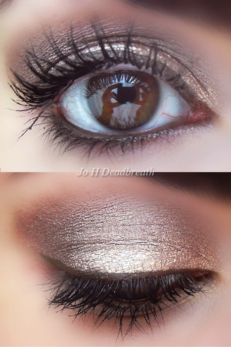 Shimmery smoky eye. Perfect for brown eyes