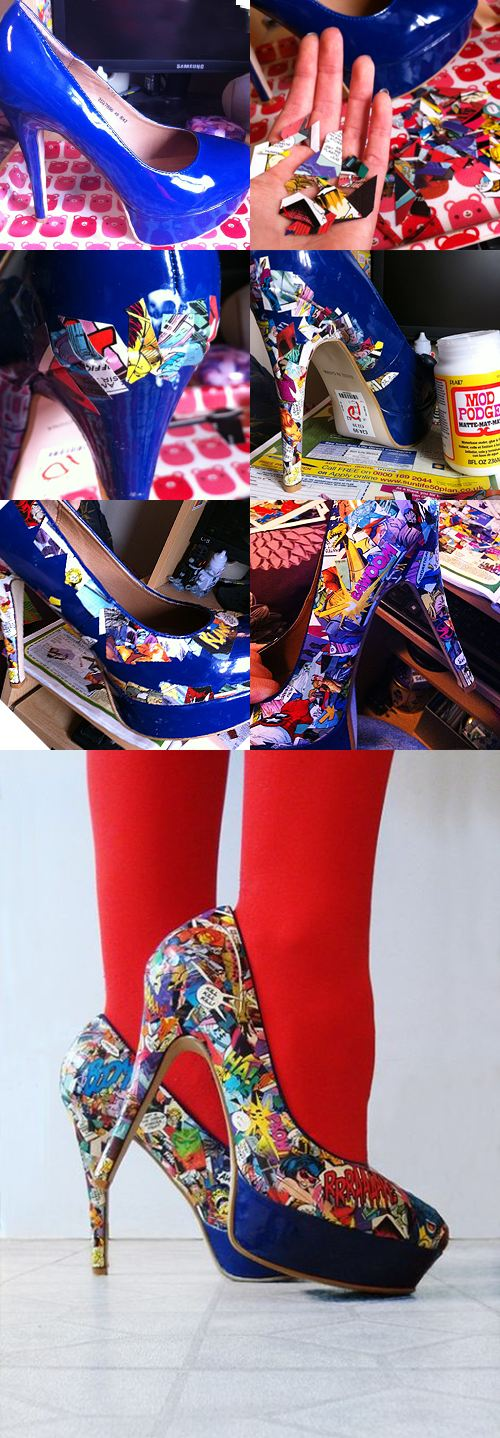 comic shoes…that you can make!?