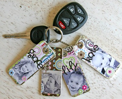LOVE ♥ You can use old credit cards, cut to size. glue on scrapbook paper,