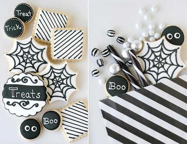 Black and White Halloween Dessert Table.
