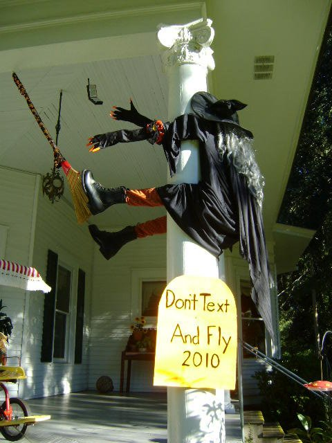 Witch…don't text and fly!!  :D