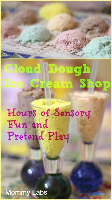 Cloud Dough Ice Cream Parlor – Sensory Fun and Pretend Play: Play and Learning a