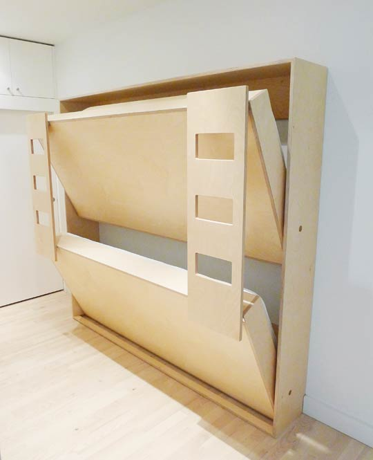 Double murphy bed for kids – cool!