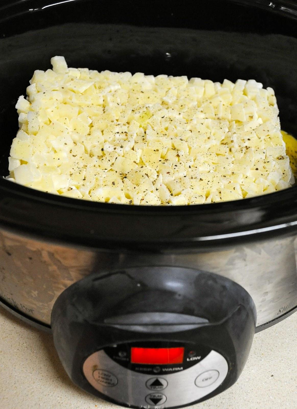 Paula Dean's super easy crockpot potato soup recipe.