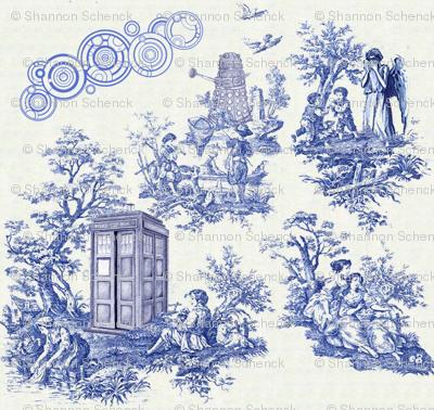 Dr Who toile fabric, brilliant!