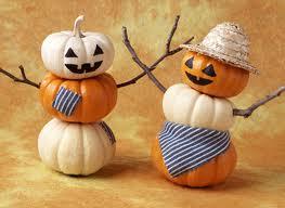 Mini pumpkin scarecrows