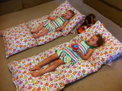 4 pillows and 3 yards of fabric. This is better than a beanbag!