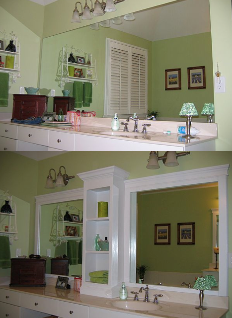 Revamp Bathroom Mirror: Before & After — And it doesn't involve cutting