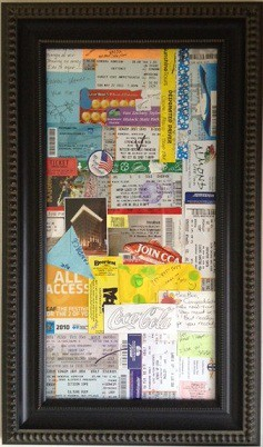 Memories in a frame. Both of you keep all wristbands, concert tickets, fair/fest