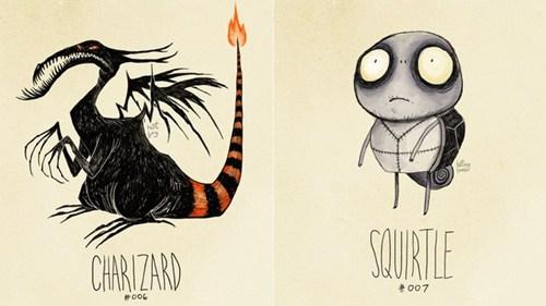 Tim Burton-Style Pokemon