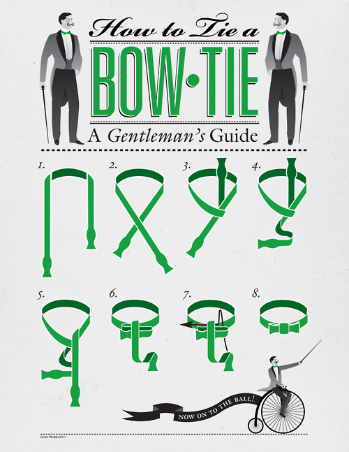 tie a bowtie, i want to know this for myself. very interesting