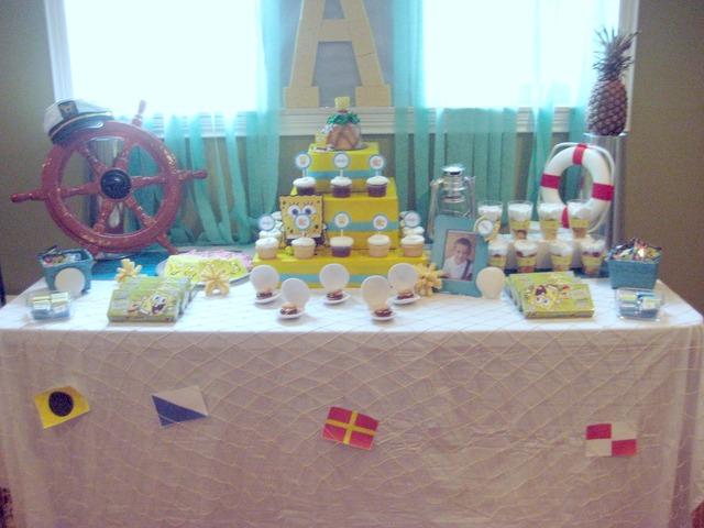 Spongebob dessert table
