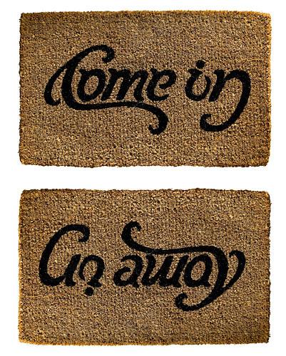 Anagram Door Mat I love this !!