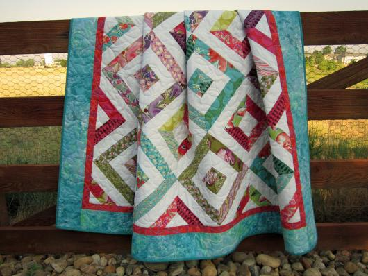 This handmade quilt is GORGEOUS!