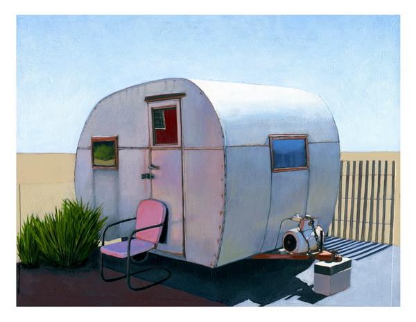Desert Camper print by Leah Giberson